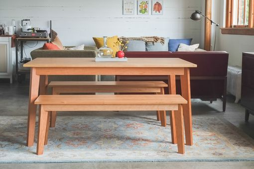 Custom Made Ventura Bench - Solid Cherry