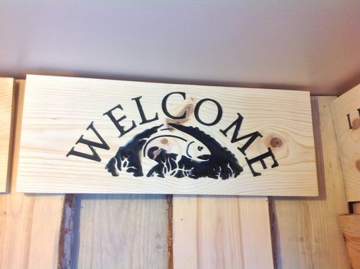 Custom Made Welcome Sign