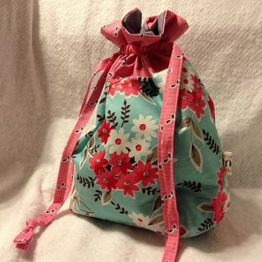 Custom Made Lined Drawstring Bag