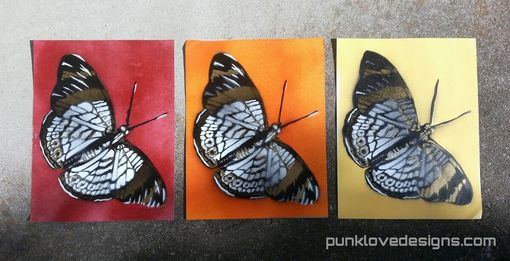Custom Made Warm Colors Graffiti Butterfly Tryptic