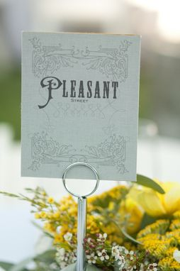 Custom Made Graphic Design - Table Name Cards