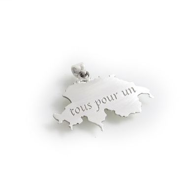 Custom Made Country Or State Silhouette Pendant