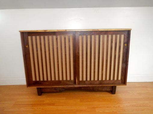 Custom Made George Nakashima Style Live Edge Sideboard / Credenza
