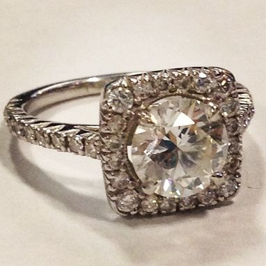 Custom Made Custommade Platinum Diamond Ring