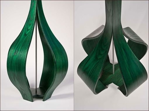 Custom Made The Allium Floor Lamp In Green