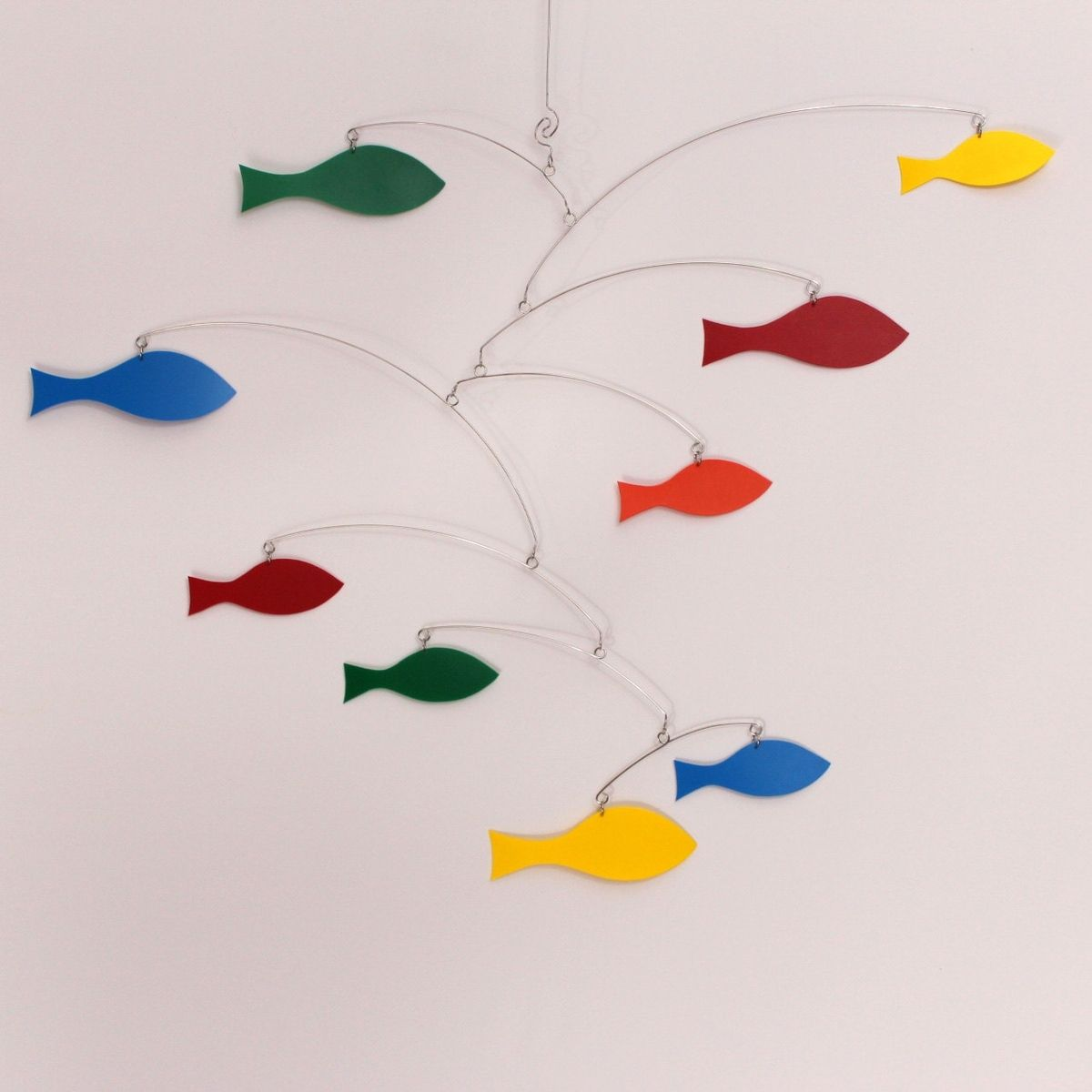 buy a custom made rainbow mobile school of fish kinetic art mobile sculpture by carolyn weir. Black Bedroom Furniture Sets. Home Design Ideas