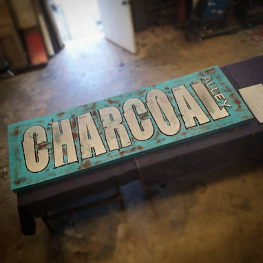 Custom Made Food Truck Park Sign