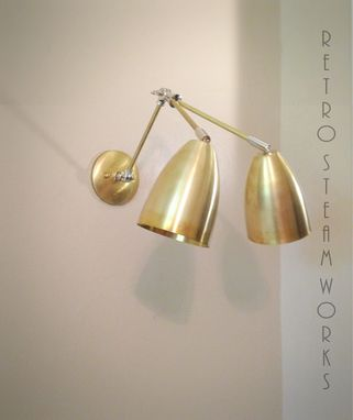 Custom Made Adjustable Articulating Wall Mount Art Light Brass And Nickel Loft & Gallery Sconce