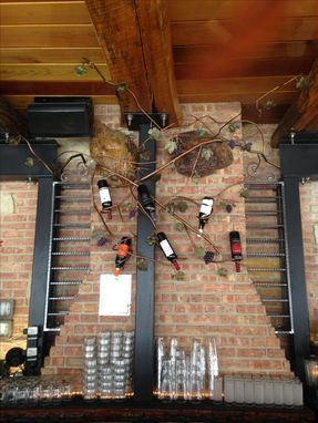 Custom Made Metal Wine Racks With Vine Bottle Holders