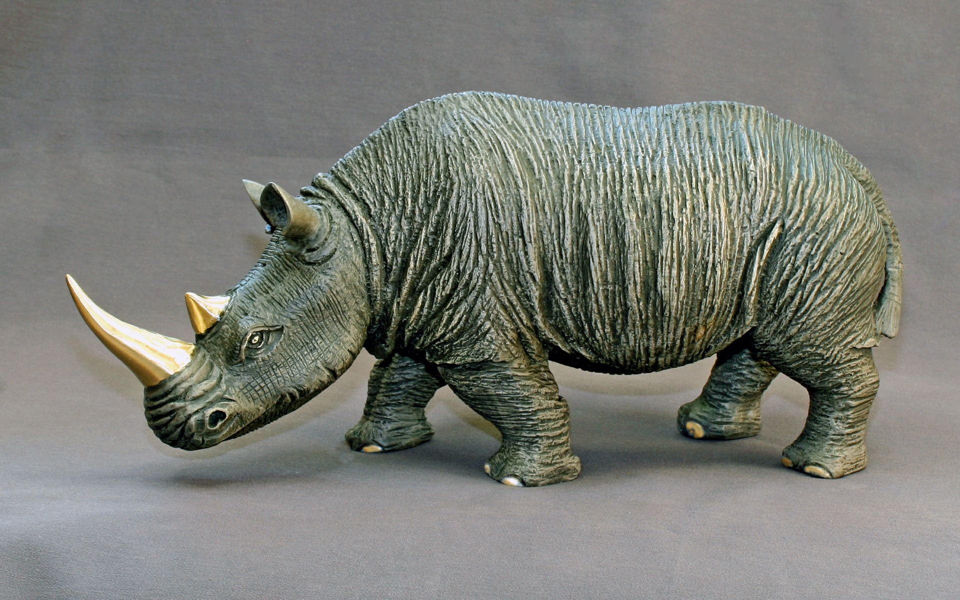 Buy A Custom Made Bronze Rhinoceros Quot White Rhinoceros