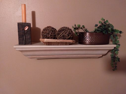 Custom Made Finished Wood Shelves With Hanging Hardware.