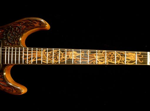 "Custom Made Blueberry ""Hawk"" Carved Electric Guitar"