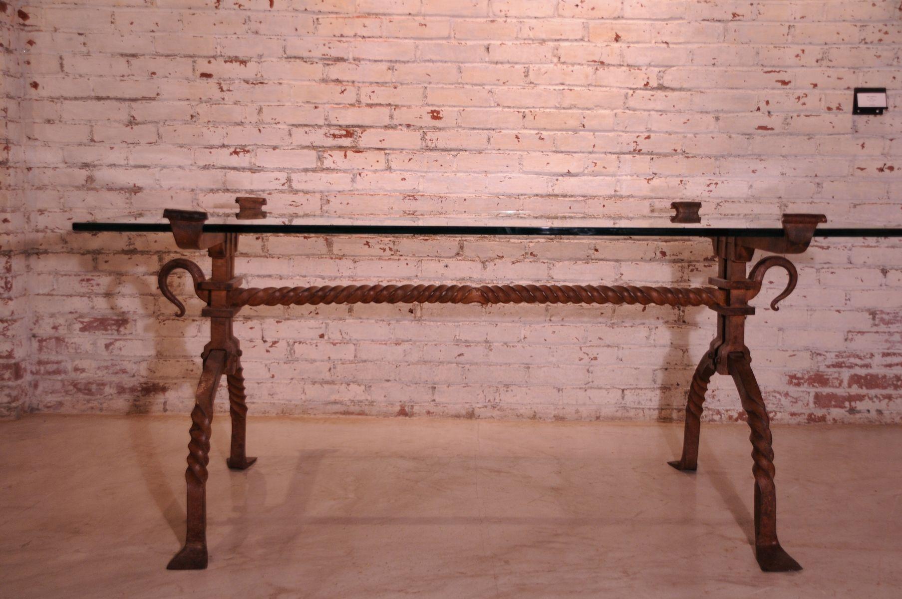 Custom Made Wrought Iron Desk Table