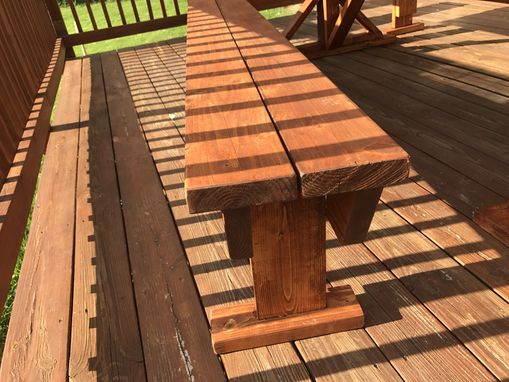 Custom Made Picnic Table With Built In Coolers
