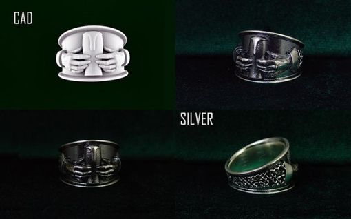 "Custom Made ""Beer"" Claddagh Silver Ring."