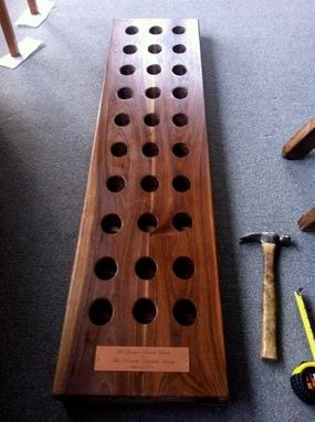 Custom Made Solid Walnut French Wine Rack