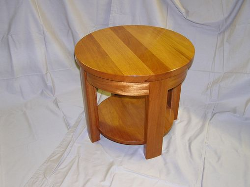 Custom Made Genuine Mahogany Round Table
