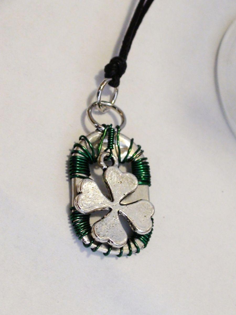 Handmade Irish Shamrock Pop Tab Jewelry Set by Desiree\'s Jewelry ...