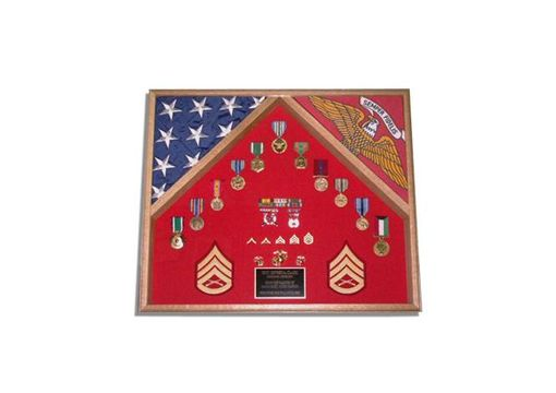 Custom Made Marine Corps Retirement Gift, Marine Corps Flag Cases
