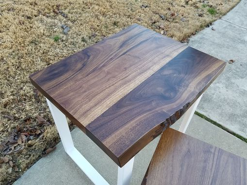 Custom Made Live Edge Walnut Living Room Tables