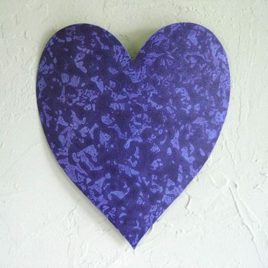Custom Made Handmade Upcycled Metal Valentine's Heart Wall Decor In Lavender