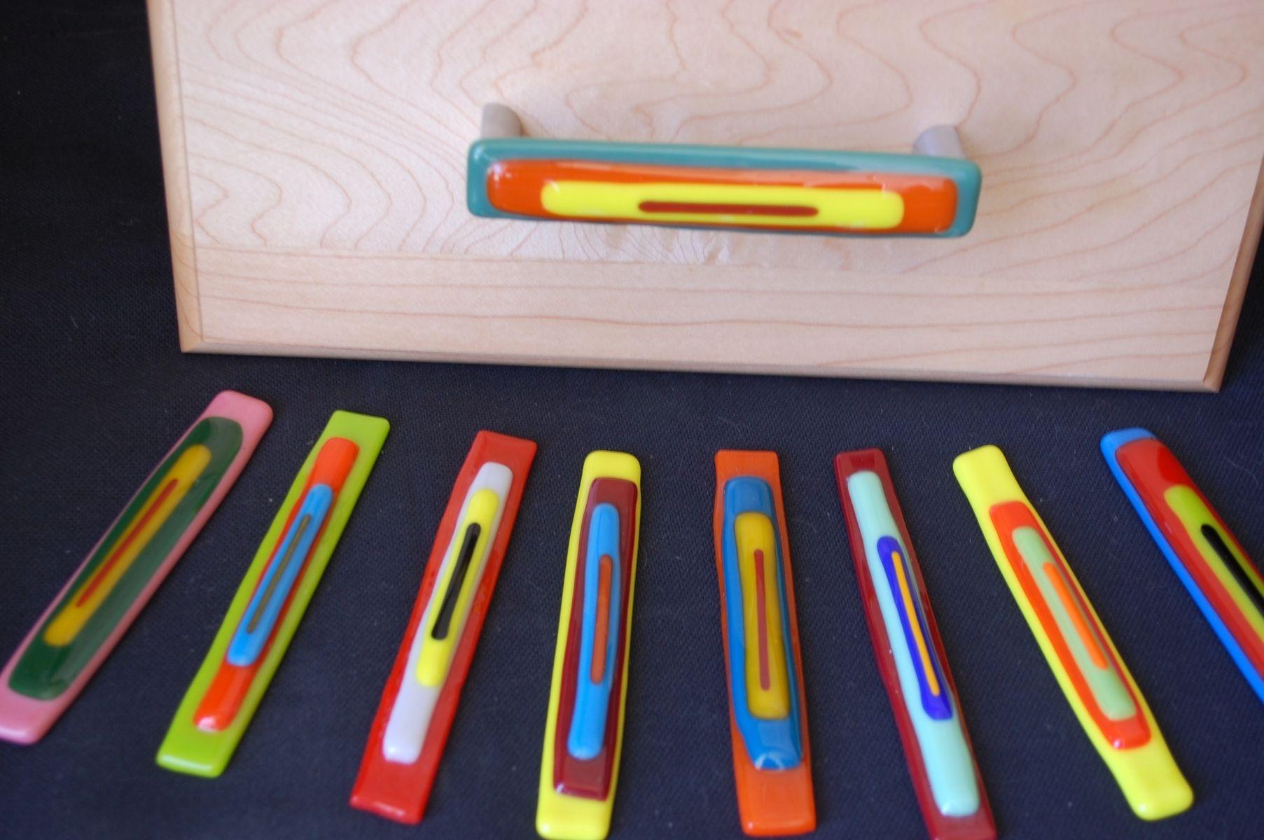 Custom Fused Glass Drawer Pulls by Lizabkap Design | CustomMade.com