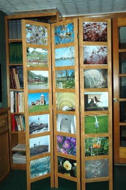 Custom Made Folding Screen For Photographs
