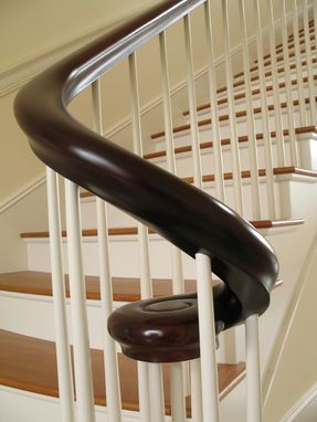 Custom Made Mahogany Continuous Shaped Curved Hand Rail
