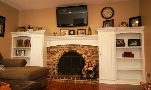 Custom Made Bookcase And Mantel