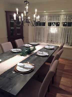 Custom Made Rustic Farm Trestle Dining Table