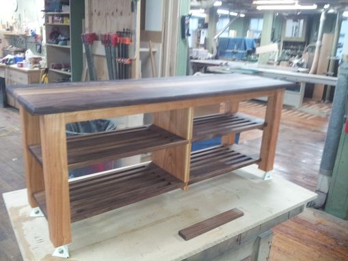 Custom Made Black Walnut / Cherry Hall Bench