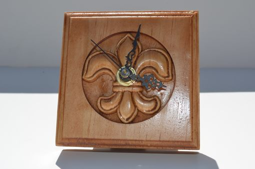 Custom Made Rosette Clock- New Orleans Fleur-De-Lis Style