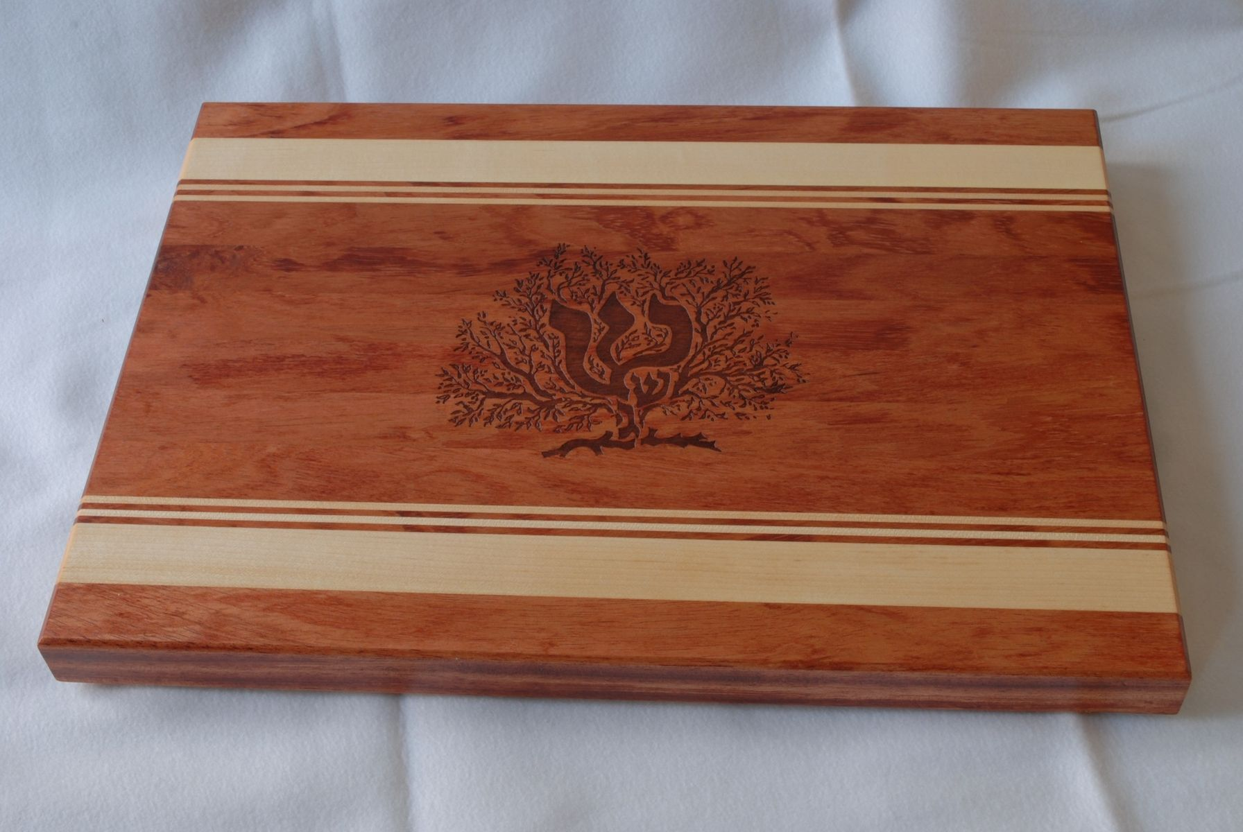 hand crafted engraved wood cutting board personalized