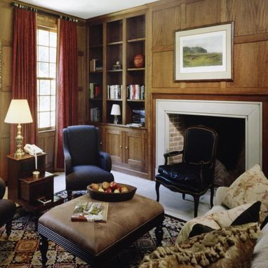 Custom Made Old English Quatersawn Library In Darien, Ct