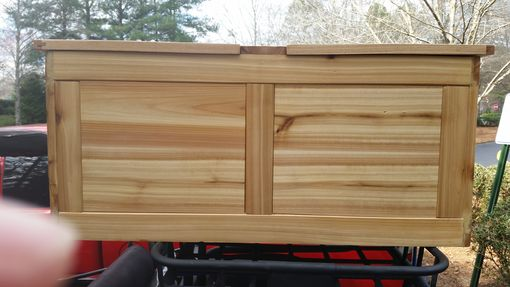 Custom Made Rustic Cedar Box For Storage