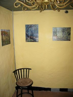 "Custom Made Custom Ceramic Tile Mural Install 6 | (7) Monet Murals | All 12.75""X17"" Using (12) 4.25"" X 4.25"" Tiles"