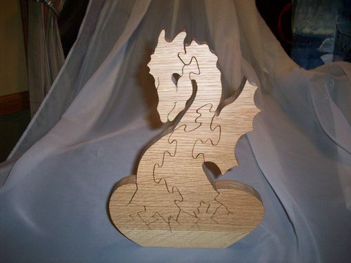 Custom Made White Oak Dragon Hatchling Puzzle