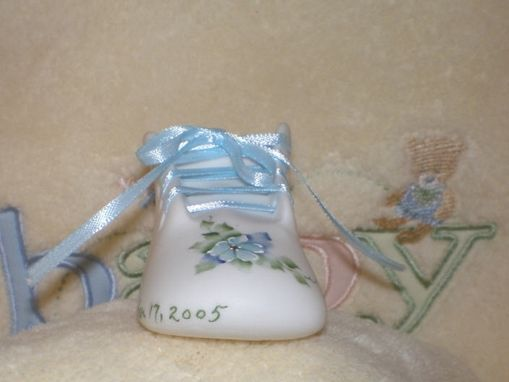Custom Made Porcelain Baby Shoe - Boys