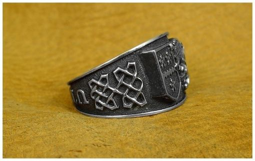 Custom Made Coat Of Arms Silver Band