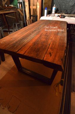 Custom Made Conference Table - Reclaimed Wood