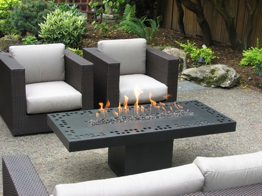 Hand Made Contemporary Fire Table By Aztec Artistic