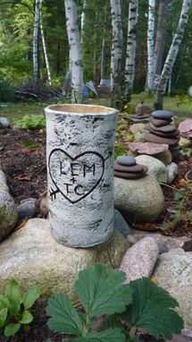 Custom Made Pottery Wood-Look Vase