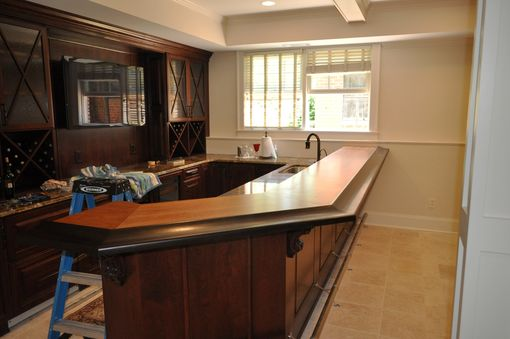 Custom Made American Cherry/Wenge Bar Top
