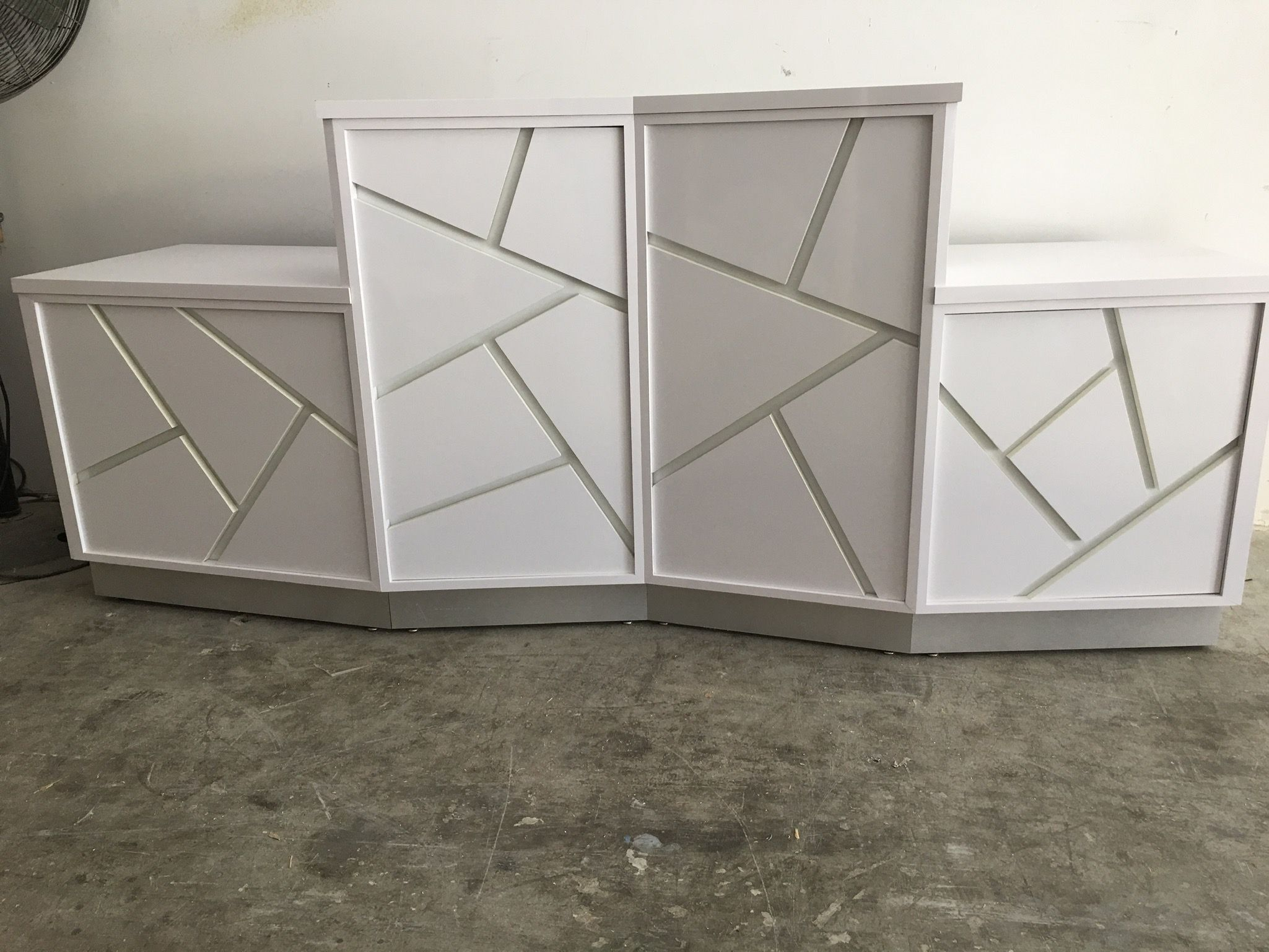 Buy a Hand Made Modern White Mosaic Faced Reception Desk ...