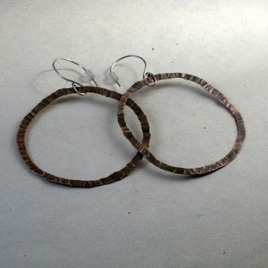 Custom Made Thin Copper Hoop Earrings