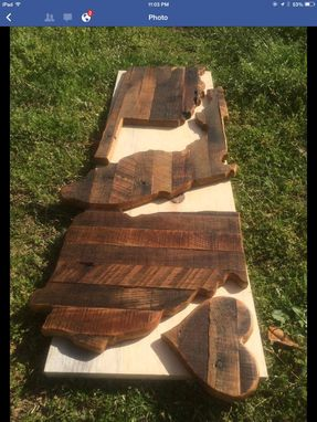 Custom Made Pallet Wood Cutout