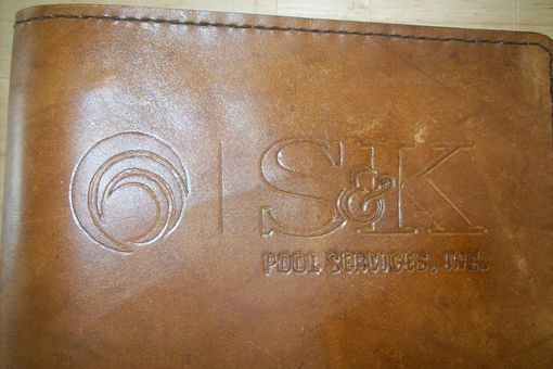 Custom Made Custom Leather Portfolio With Business Name