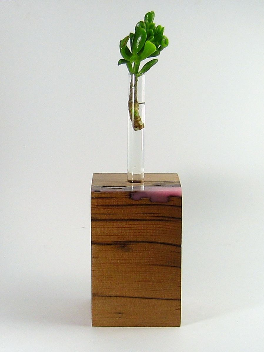 Handmade Reclaimed Wood Vase By Copperedge Studio