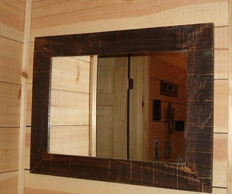 Custom Made Rustic Reclaimed Barnwood Mirror