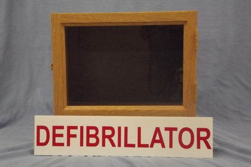 Custom Made Comercial Aed (Defibrillator) Cabinet